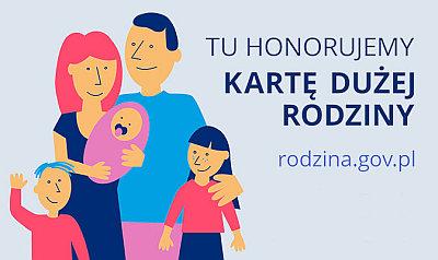 Tu honorujemy Kartę Dużej Rodziny